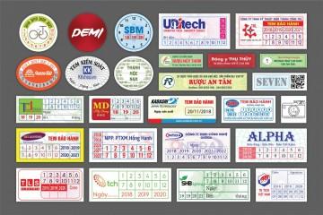 In tem nhãn đa dạng, giá rẻ, chất lượng nhất tại In Ấn Sáng Tạo